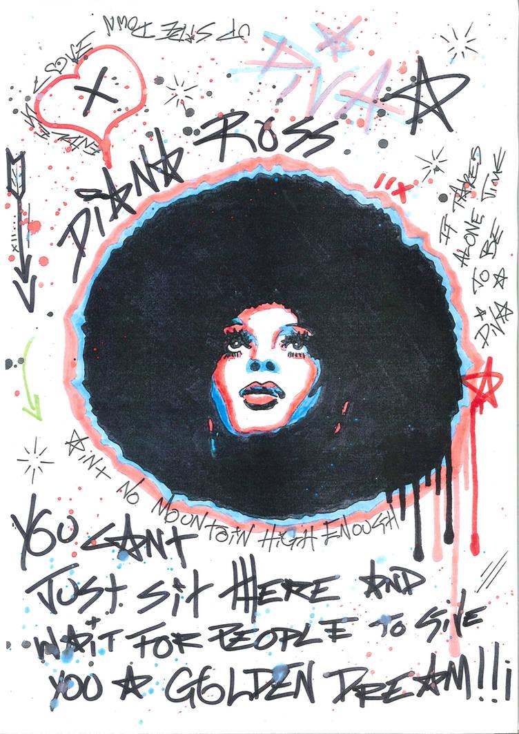 Diana Ross by Evlisking