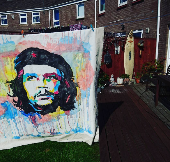 CHE huge water color by Evlisking