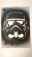 stormtrooper stencil by Evlisking