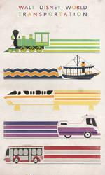 Walt Disney World Transit Poster by Lunamis