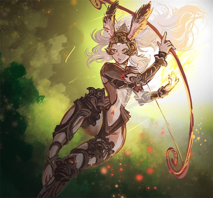 Fran, The Queen of Archery by kaifuu