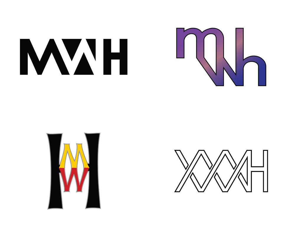 Logo based on initials design