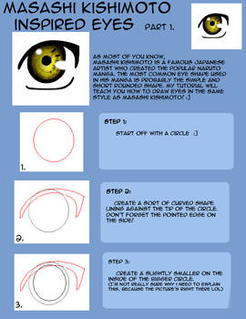 How to draw Naruto eyes pt1