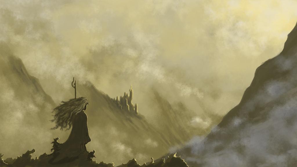 Misty ruins by Talrascha