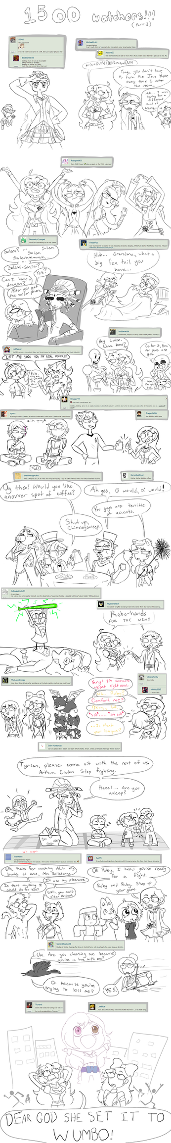 (UPDATED) 1500 Watch Doodles Part 3 and 4 by JumpinJammies