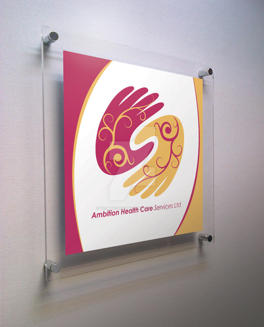 Ambition Health Care Logo Sign by Tommassey250