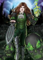 Diethelm Hubbrecht - Vampiric Necromancer OC by FKDemetri