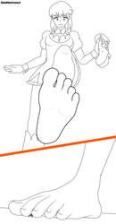 [COMMISSION] Nonon Jakuzure stomp by SizeWorkshop