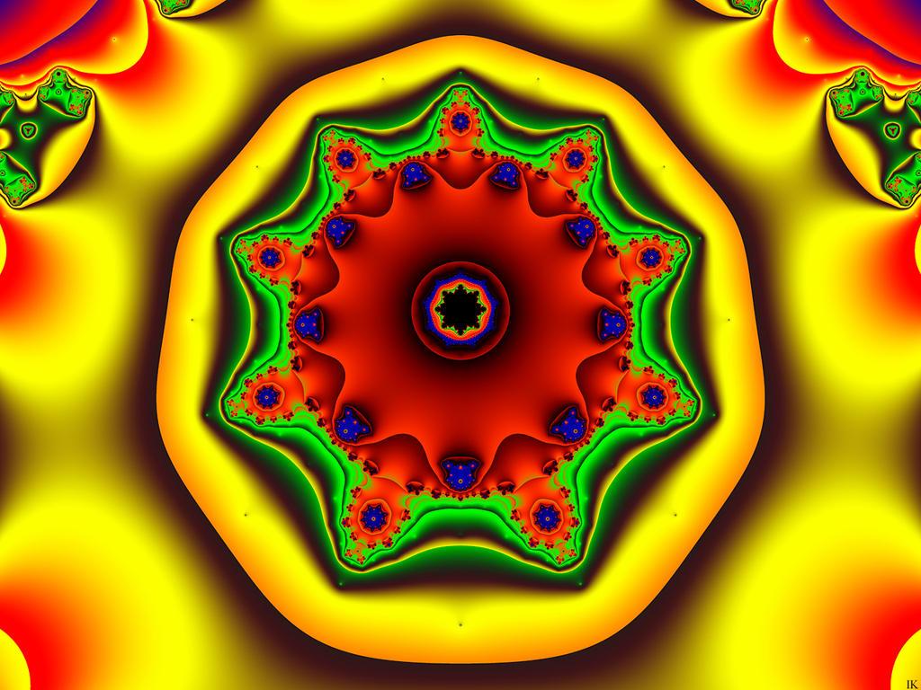 Nonic Mandala Garden by FractalMonster