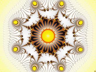 Golden Scepter Mandala by FractalMonster