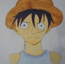 Luffy's face by Saaraa96