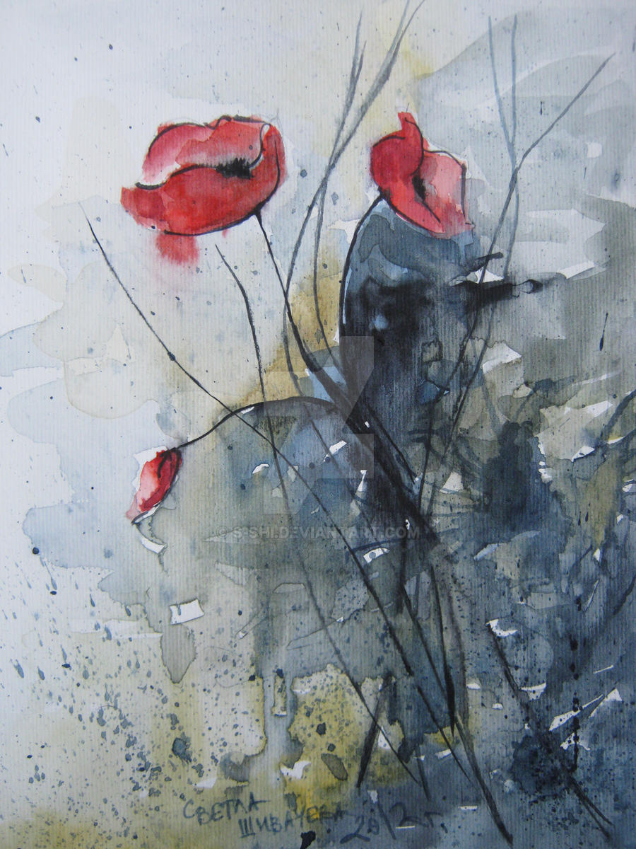 poppies by s-shi