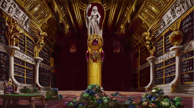 Magnus' library room