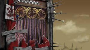 Ork looted Church window