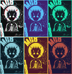 Mob Psycho 100 - Duotone + glitch by KurokoGraph