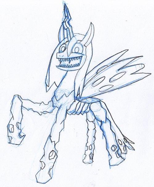 Meet Creepy Chrysalis by EwoudCPonies