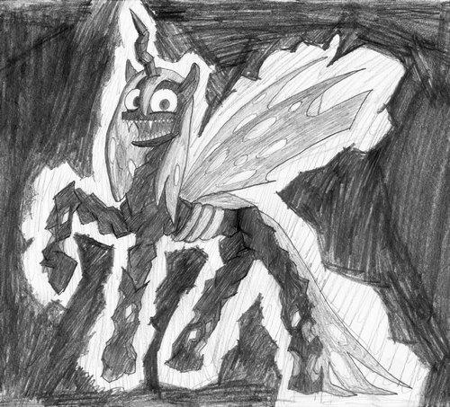 Meet Creepy Chrysalis again! by EwoudCPonies