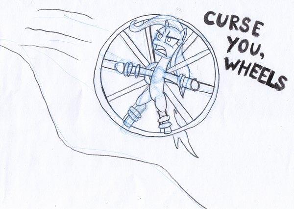 Trixie vs Wheels by EwoudCPonies