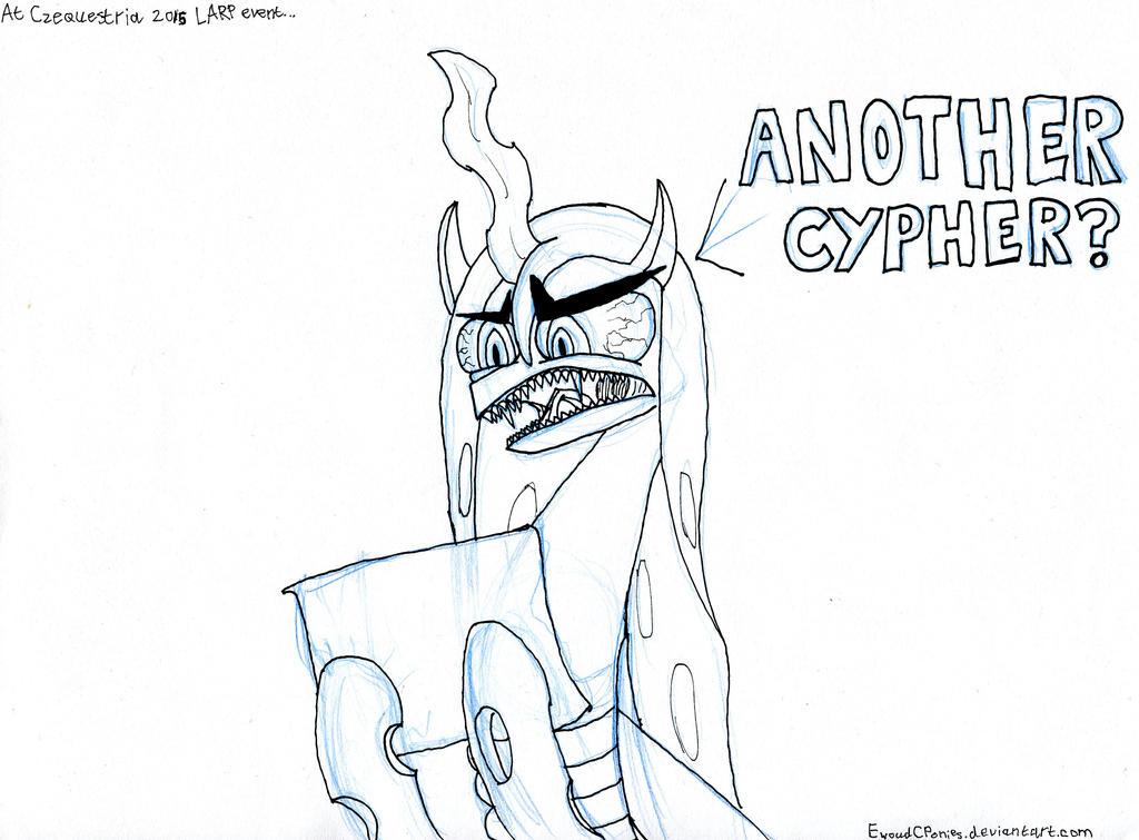 Chrysalis at the LARP by EwoudCPonies