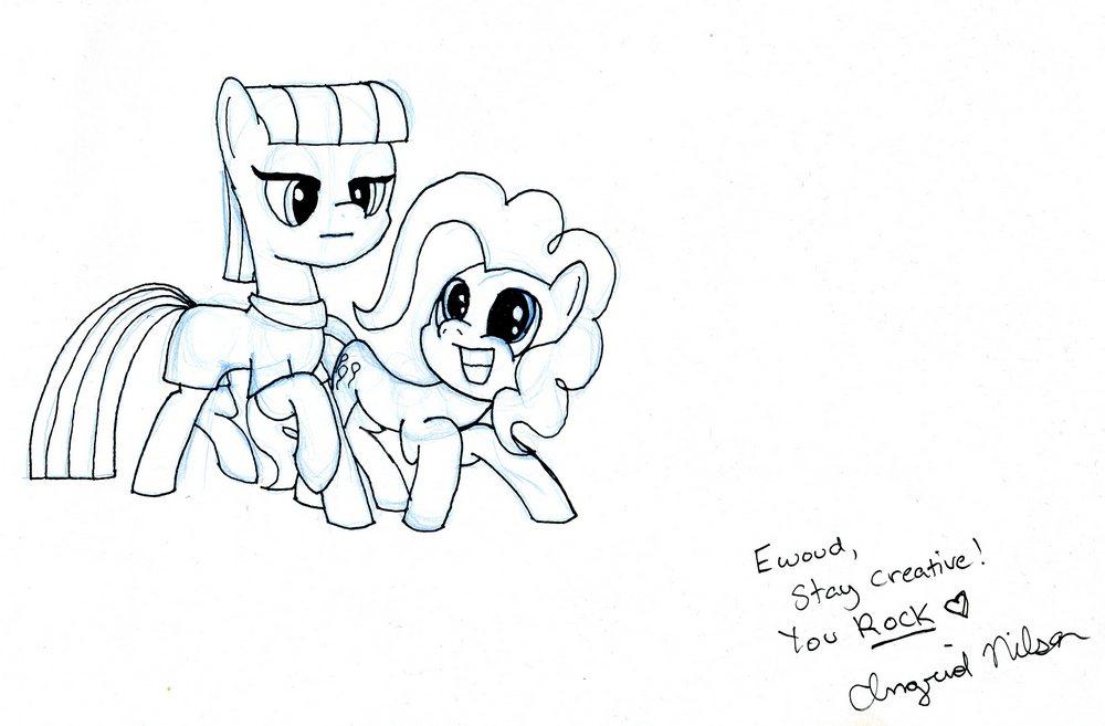 Pinkie n Maud (signed) by EwoudCPonies