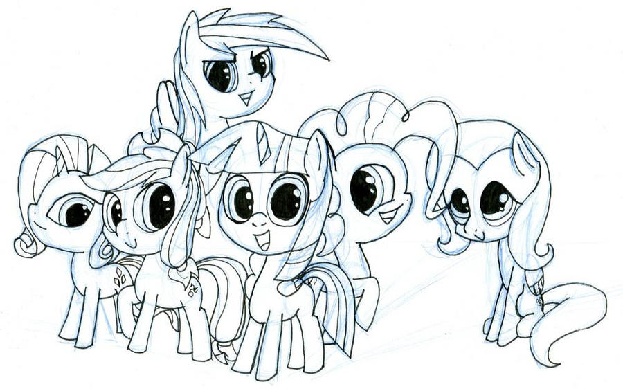 The Mane Six by EwoudCPonies