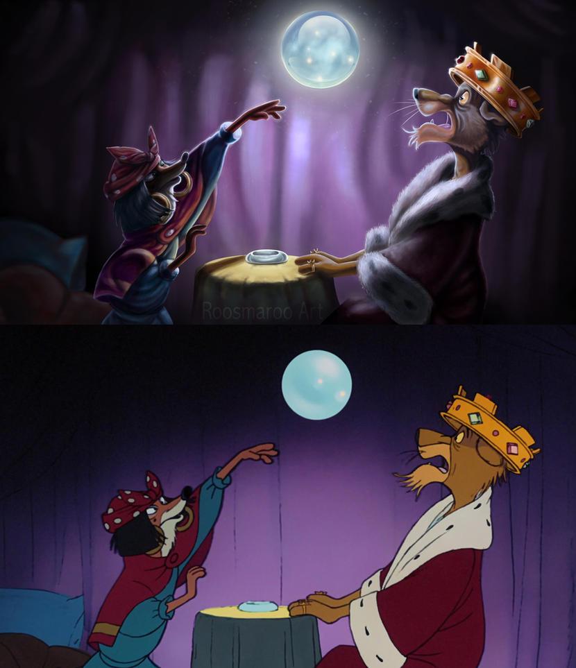 Robin Hood Redraw Side by Side by RoosmaRoo