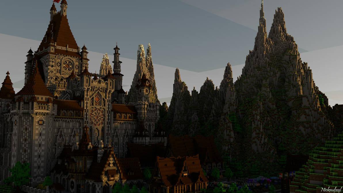 Minecraft Castle Wallpaper Hd By Nicknufayl On Deviantart