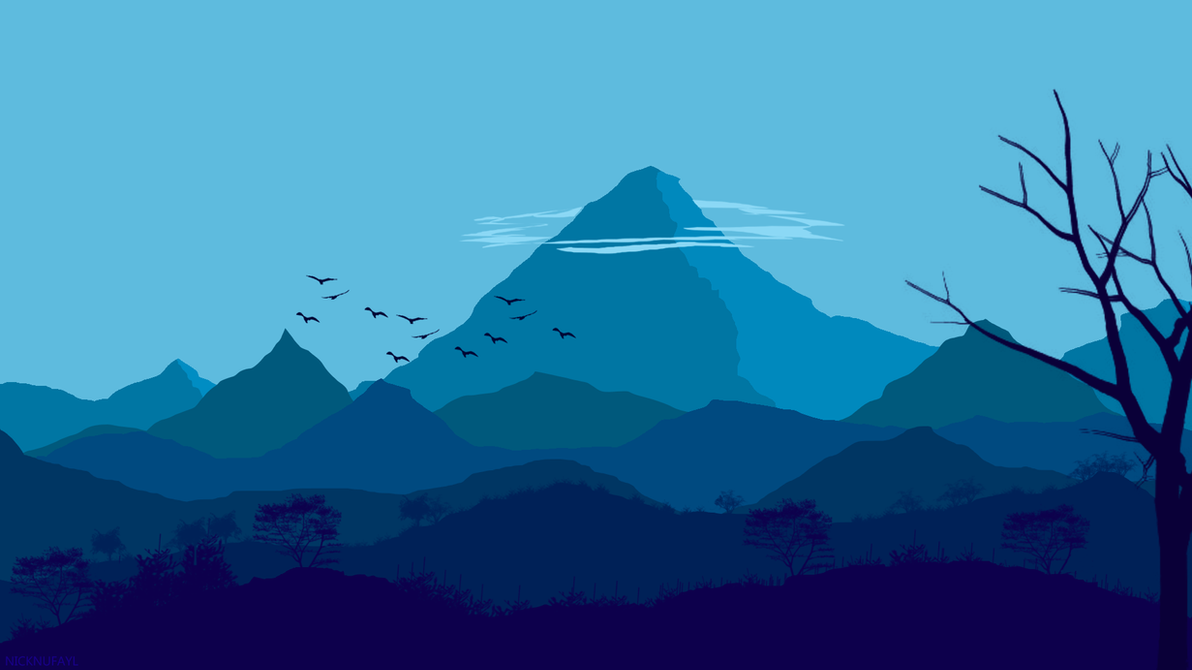 Flat Landscape Wallpaper by Nicknufayl