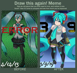 Draw this Again! -Miku- by JamminSam