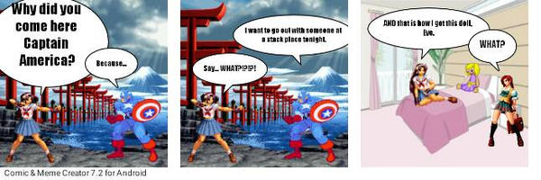 How Sachiko_833 met Captain America (Mini Comic) by Sachiko833