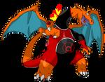 Charizard - Lanterna Vermelho