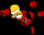 Homer Simpson - Lanterna Vermelho
