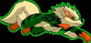 Arcanine - Lanterna Verde