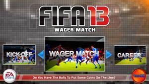 FIFA 13 Wager Match Interface Design (Main Menu)