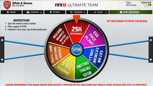 FIFA 13 Spin The Wheel Screen 2