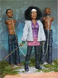 Michonne- Walking Dead by whiledreaming