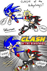 Art Study - Comparison of 'Clash Of The Hedgehogs'