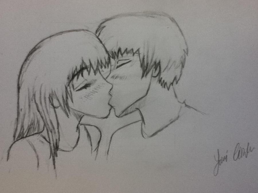 two people kissing by Shouta-Kazehaya on DeviantArt
