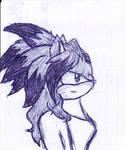 Future Blaze pen sketch by Sayonara------Shadow
