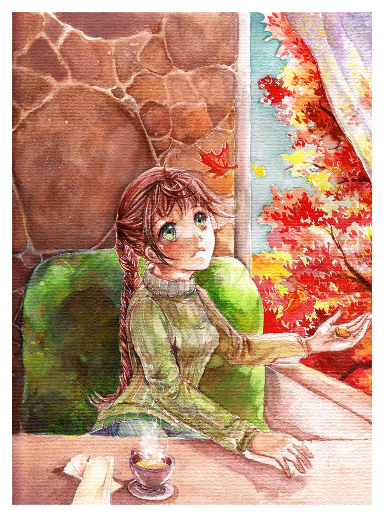 . Autumn Cafe . by Pae-kym