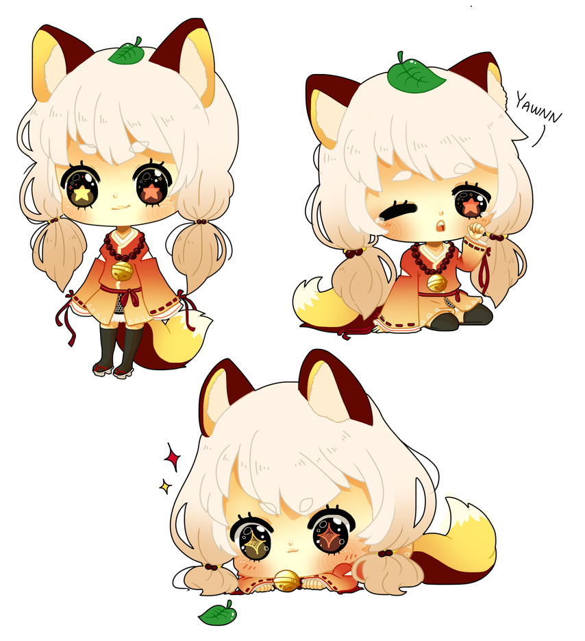 how to draw a chibi fox girl