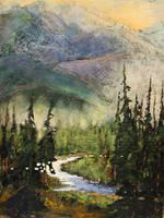 Rocky Mountain Texture by artistwilder