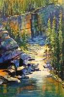 Falls on O'Hara Lake by artistwilder