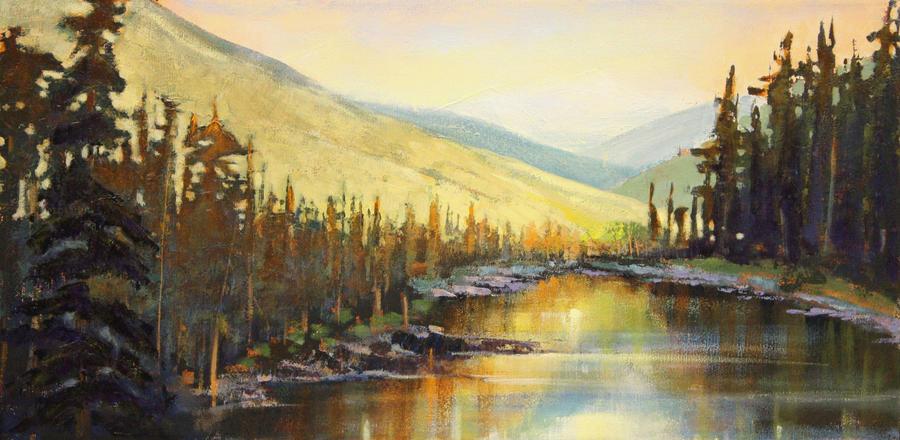 Picnic Pond by artistwilder