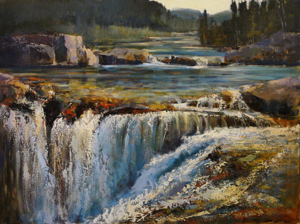 Elbow Falls by artistwilder