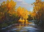 Autumn Evening on Fish Creek Study