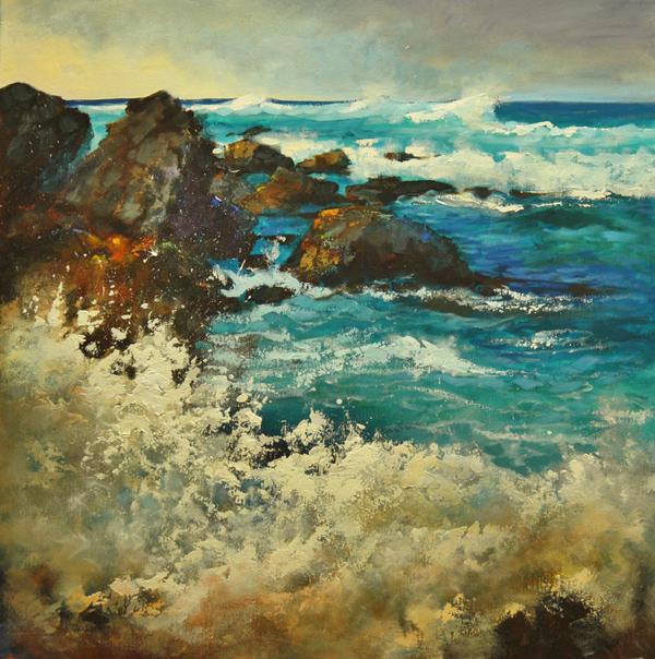 Shoreline Crash by artistwilder