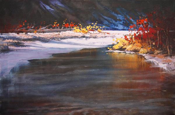 Voiters Flats, Fish creek by artistwilder