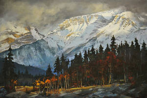 Passing Stormy Banff by artistwilder