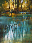 'Creek Reflection' acrylic 12 x 9 inches